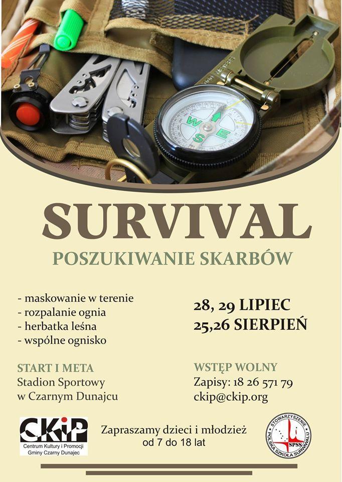 Czarny Dunajec warsztaty survivalowe dla dzieci i młodzieży